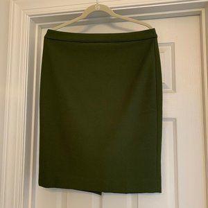 JCrew Olive Four Season Stretch No 2 Pencil Skirt